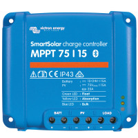 Victron mppt smart 75/10 regulator 145wp 12v / 290wp 24v