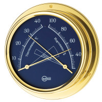 Barigo regatta termo/hygrometer navy ø100/120mm messing