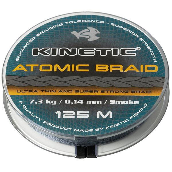 Kinetic atomic braid 0,14mm 125m 7,3kg