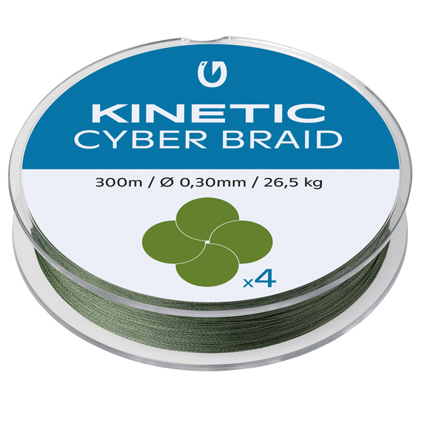 Kinetic cyber braid 4, 150m 0,30mm/26,5kg