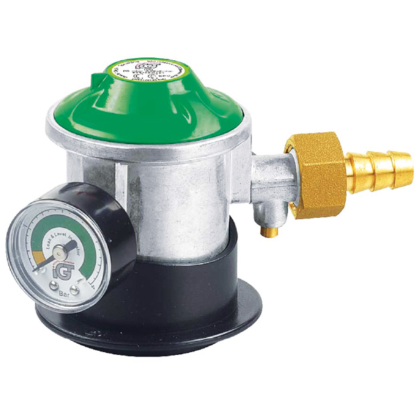 Gas regulator jumpo click on med manometer og slan