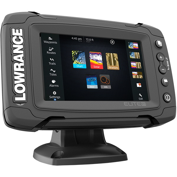 Lowrance elite 5ti med totalscan transducer