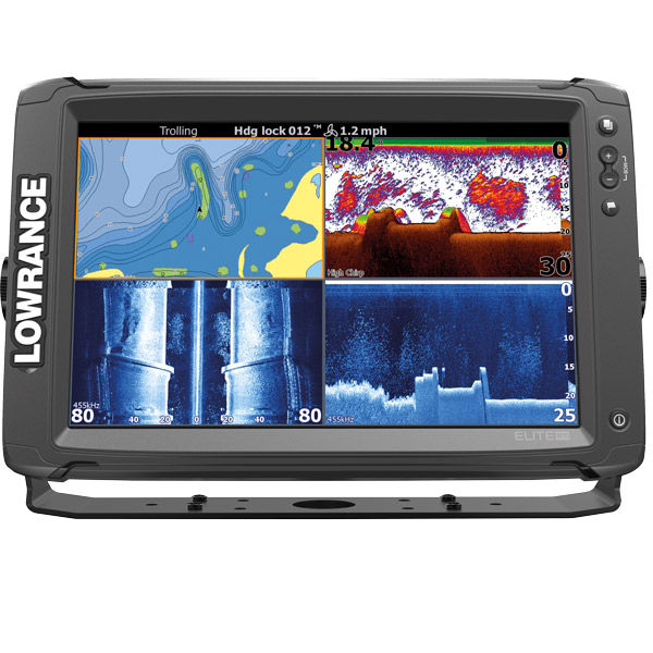 Lowrance elite 12ti med totalscan transducer