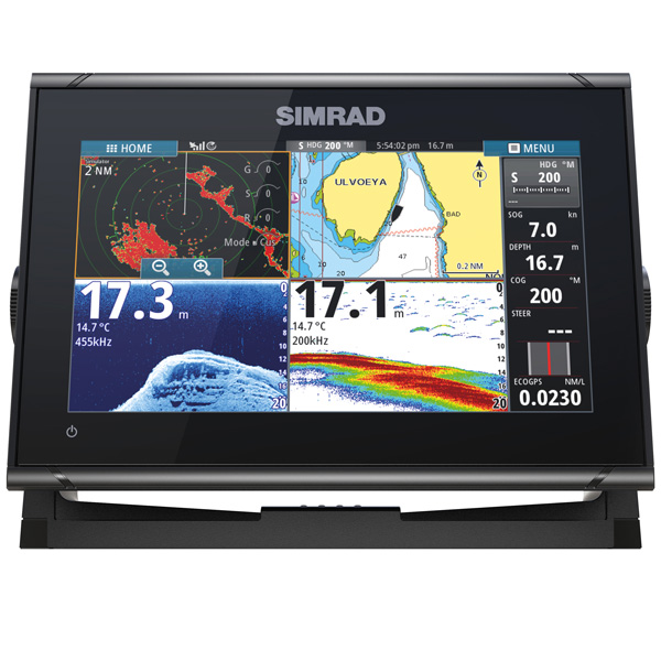 Simrad go9 xse, totalscan transducer hæk