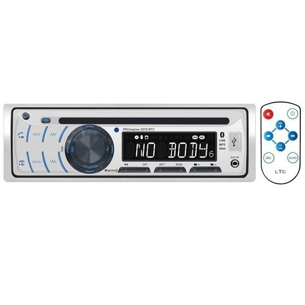 Promarine 2010bt radio m/cd, bluetooth & i-co