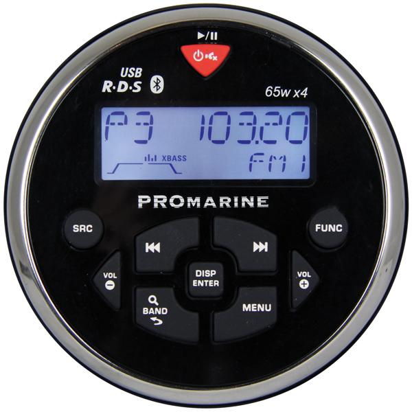Ltc pro 1111bt rund marineradio sort/chrom