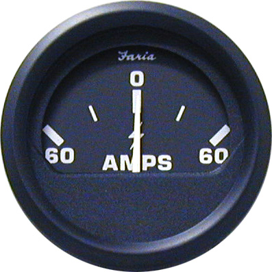 Amp.meter 60-0-60 ches.hvid ss