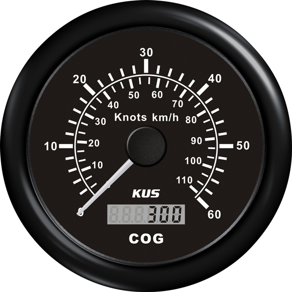 Kus gps speed 0-30knob, sort 12/24v