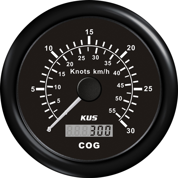 Kus gps speed 0-60knob, sort 12/24v