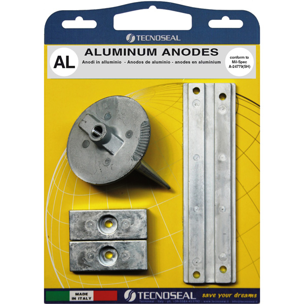 Alu anode kit til mercury 40-250