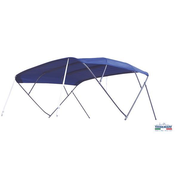 Bimini top 255x255x140cm navy fly inox, ø25mm rust