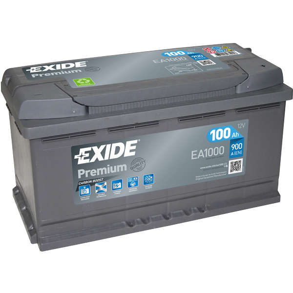 Batteri exide premium start 100 ah