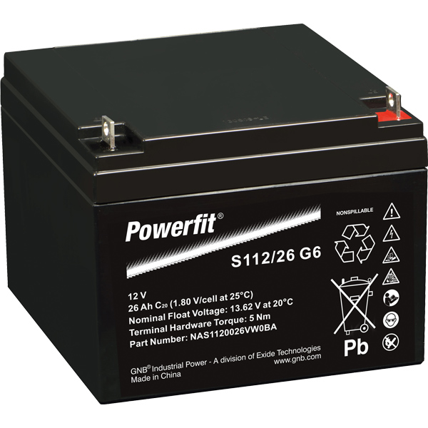 Batteri exide powerfit hvr dual agm  26ah