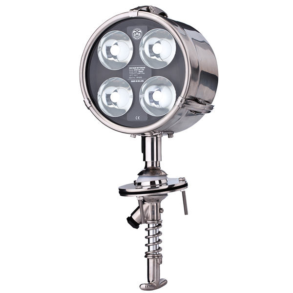 Søgelys led rustfri 180 mm 10-32v 20w 350.000cd