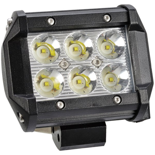 Sort alu-hus 6x3w 18w″cree″ led 12/24v