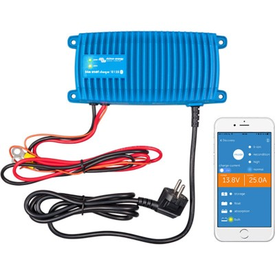 Victron blue smart lader 24v 12amp. 1 grp. ip67