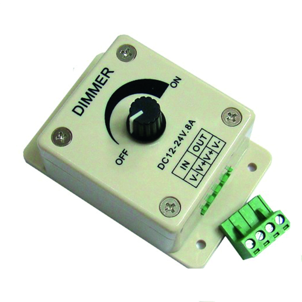 Nauticled pwm led dimmer, 10- 30v input, max 8 a o