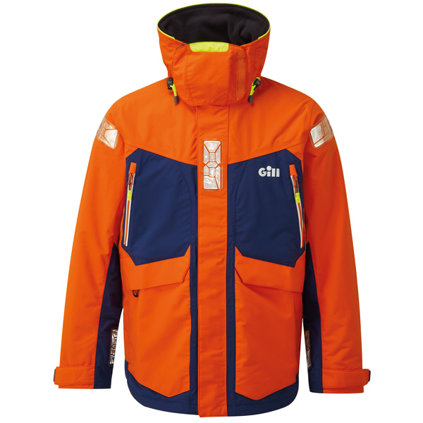 Gill os24 offshore jakke orange/mørkeblå str m