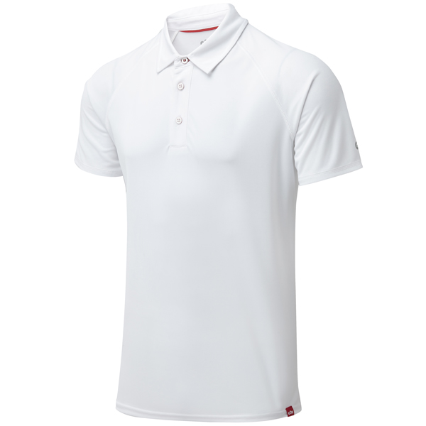 Gill uv008 mens uv polo hvid str s