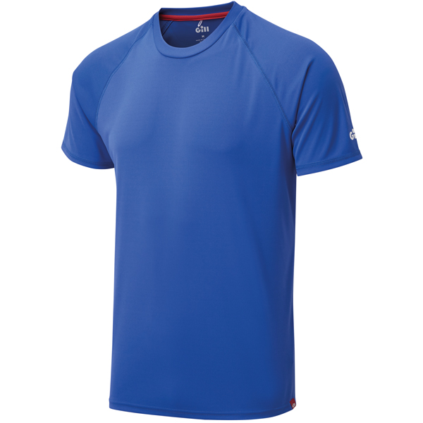 Gill uv010 mens uv tec t-shirt blå str xs