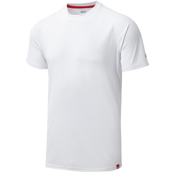 Gill uv010 mens uv tec t-shirt hvid str s