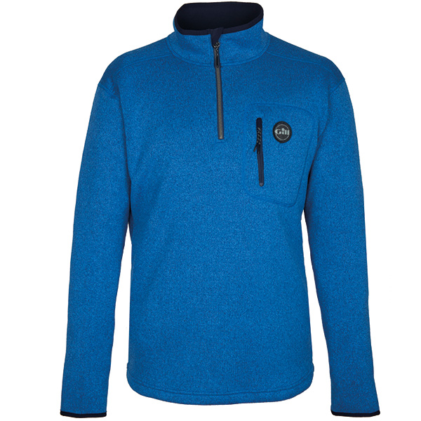 Gill 1492 mens knit fleece blå str. medium