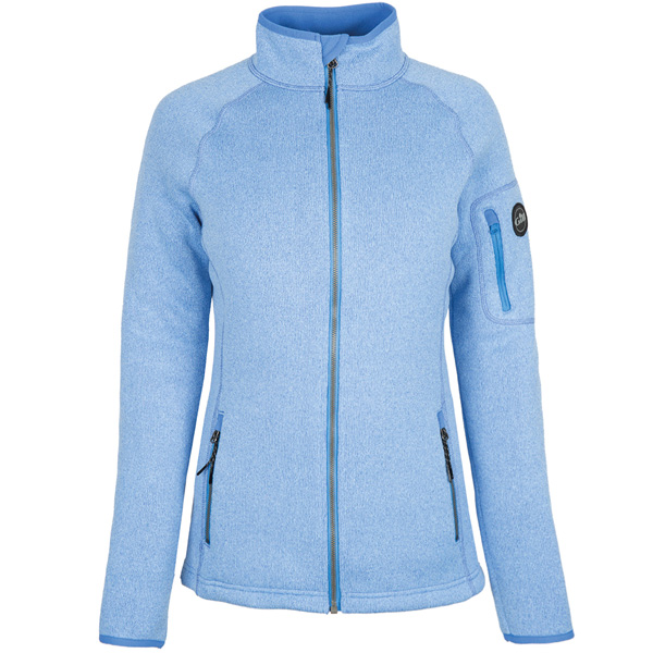 Gill 1493w knit fleece dame jakke lyseblå str. 8