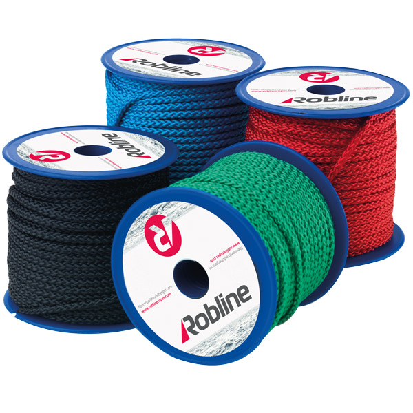 Robline mini polyester 3 mm sort boks 10x20 meter