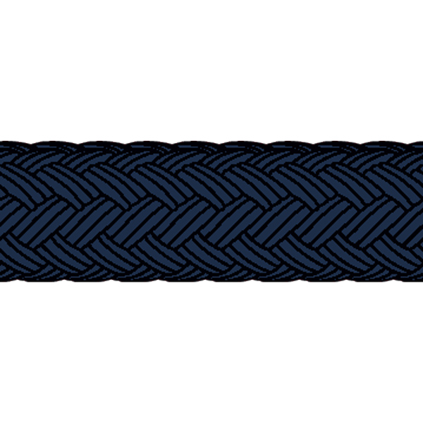 1852 fenderline db. flettet navy ø8mm 2 meter 2 st