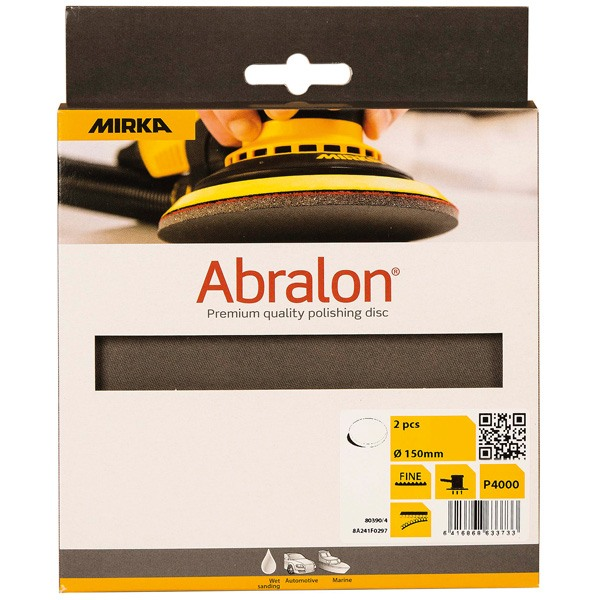 Mirka abralon  ø 150mm p1000 - 2 stk.