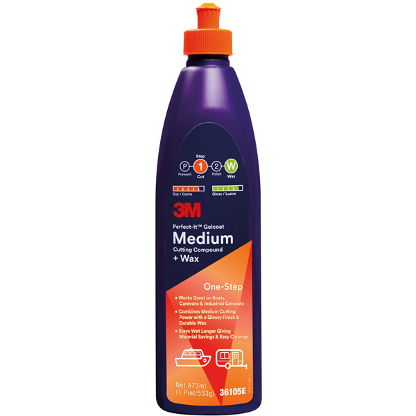 3m marine gelcoat medium cutting compound 473ml